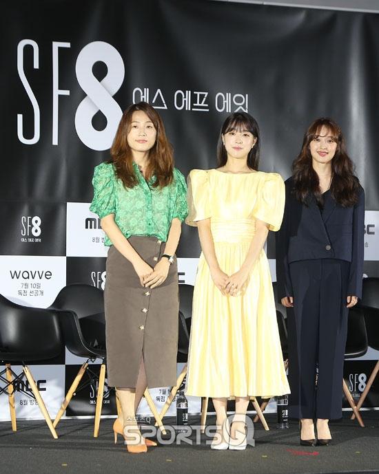 [포토Q] 이윤정 감독-최성은-김보라 'SF8 '우주인 조안' 많이 봐주세요'