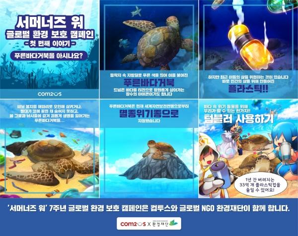 컴투스 '서머너즈 워' 환경보호 캠페인, 해양위기동물 지키기 나선다